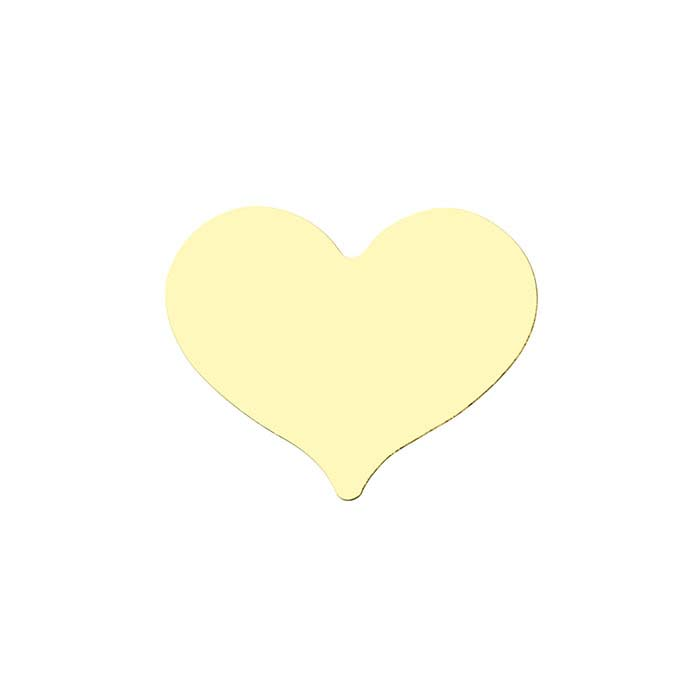 14/20 Yellow Gold-Filled Heart Stampings