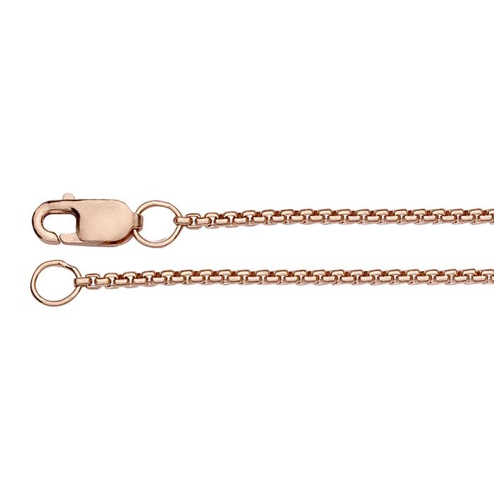14/20 Rose Gold-Filled Rounded Box Chains