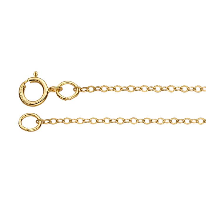 14/20 Yellow Gold-Filled Flat Oval Cable Chains