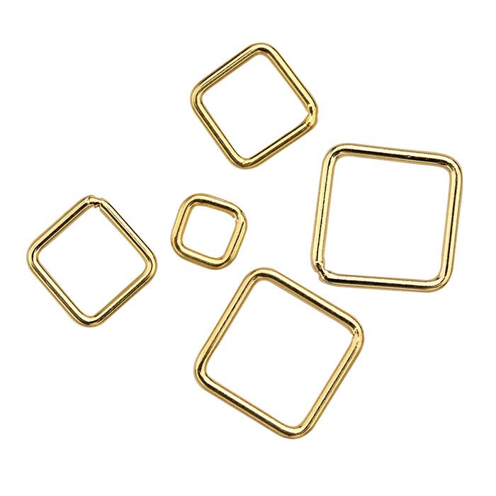 14/20 Yellow Gold-Filled Square Closed Rings