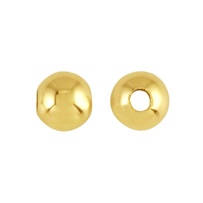 18K Yellow Gold Heavy-Wall Seamless Round Beads
