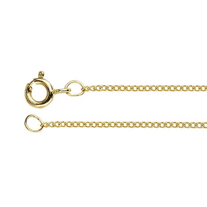 14K Yellow Gold Curb Chains