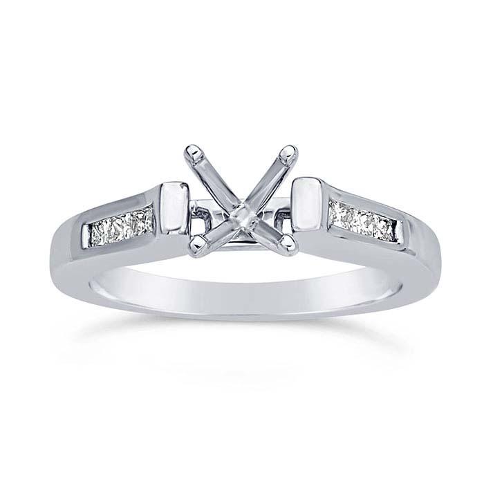 Platinum .75-Ct. Semi-Mount Engagement Ring Mounting