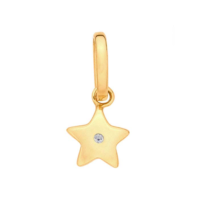 14K Yellow Gold Diamond-Accented Star Charm