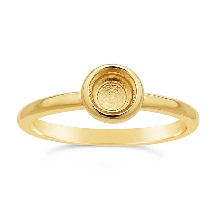 14K Yellow Gold .50-Ct. Round Ring Mounting