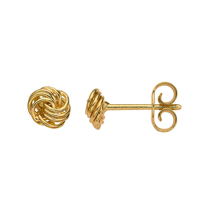 14K Yellow Gold Knot Earrings