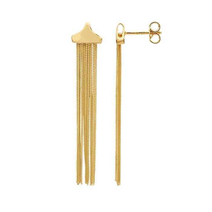 14K Yellow Gold Tassel Earrings