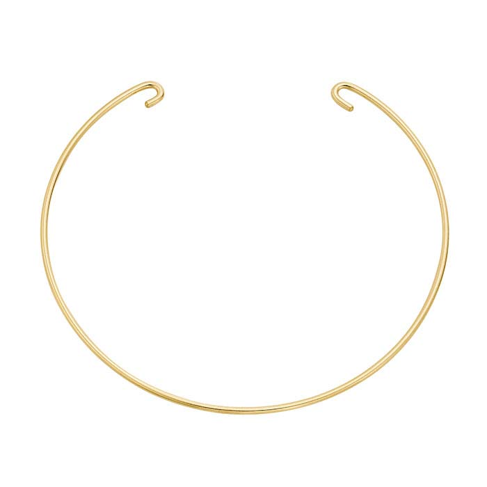 14/20 Yellow Gold-Filled Double-Hook Bangle Bracelet Component
