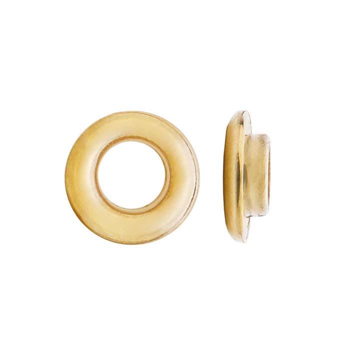 14K Yellow Gold 3mm Bead Grommet