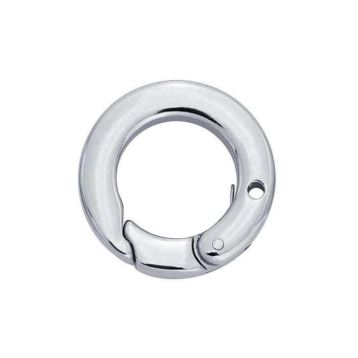 Stainless Steel Round Push Clasp with Hole