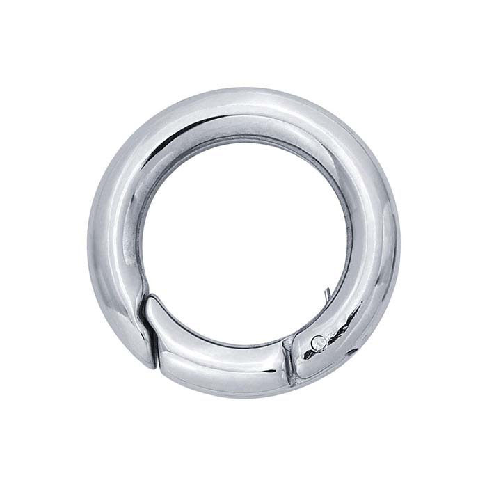 Stainless Steel Round Push Clasp