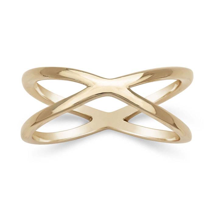 "Bronze Open ""X"" Rings"