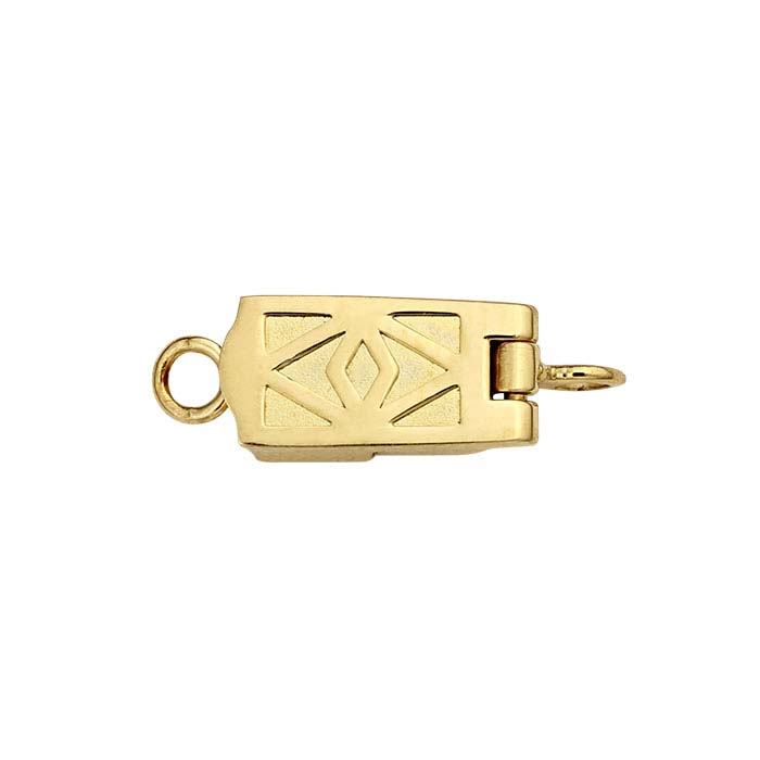 ClickSecure® 14K Yellow Gold Rectangle Magnetic Clasp