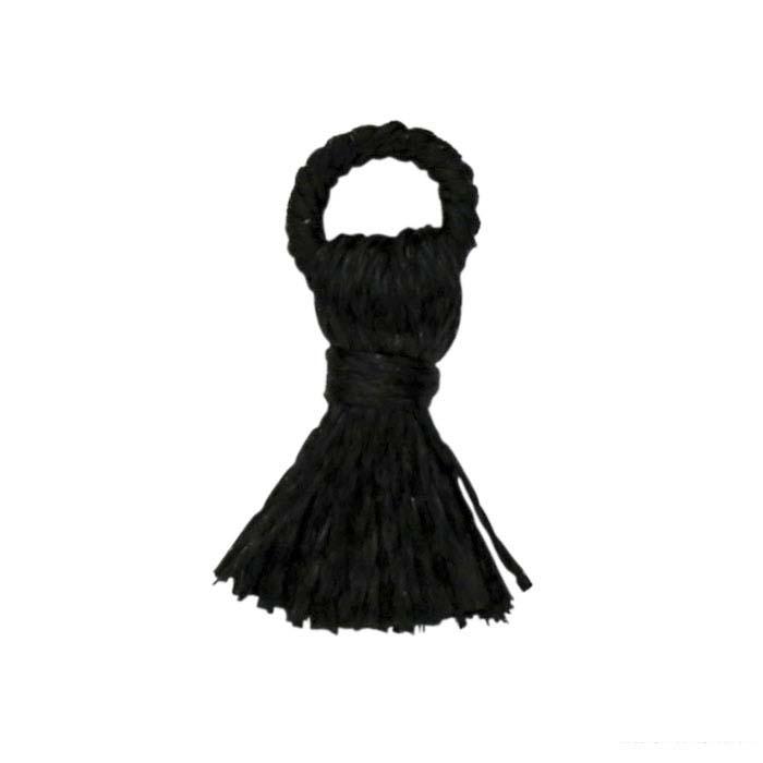 Black Polyester 10mm Tassel Component