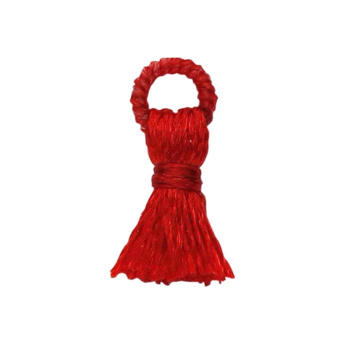 Red Polyester 10mm Tassel Component