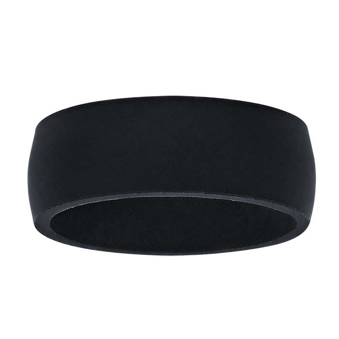 Black Silicone 7mm Bands