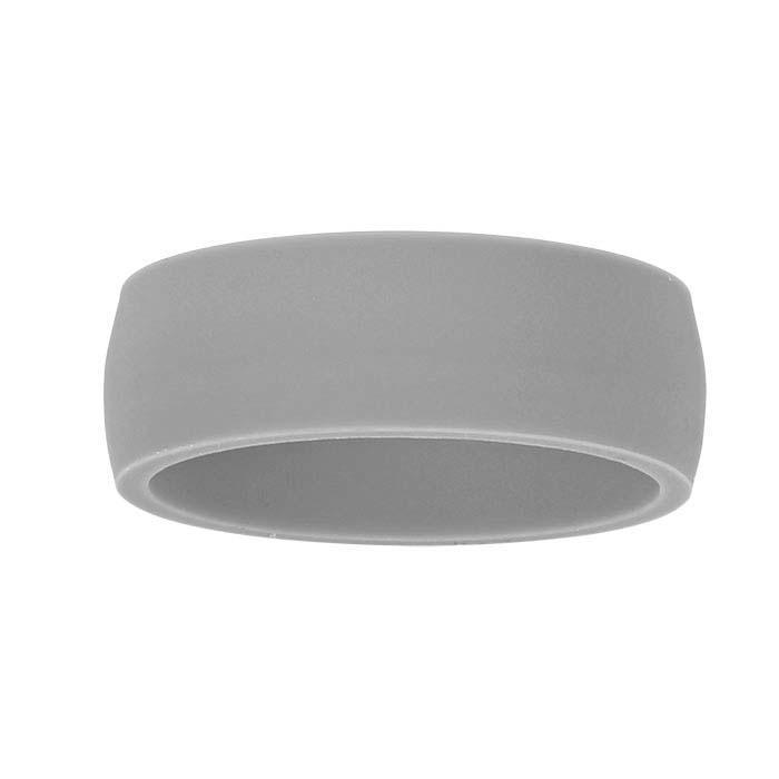 Gray Silicone 7mm Bands