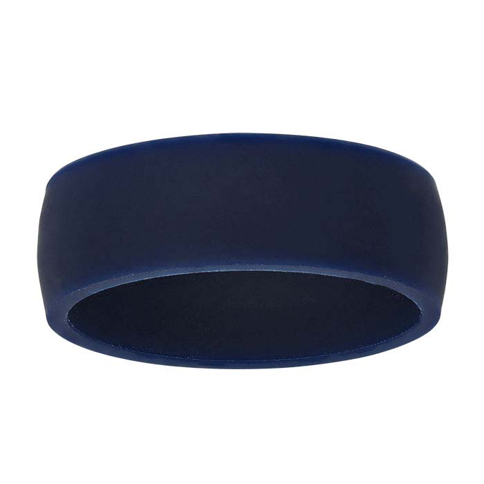Navy-Blue Silicone 7mm Bands