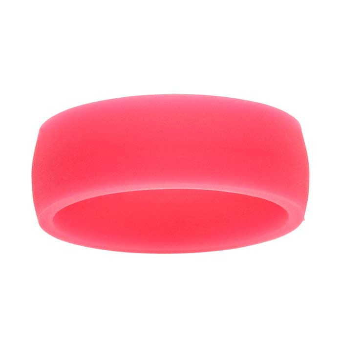 Pink Silicone 7mm Bands