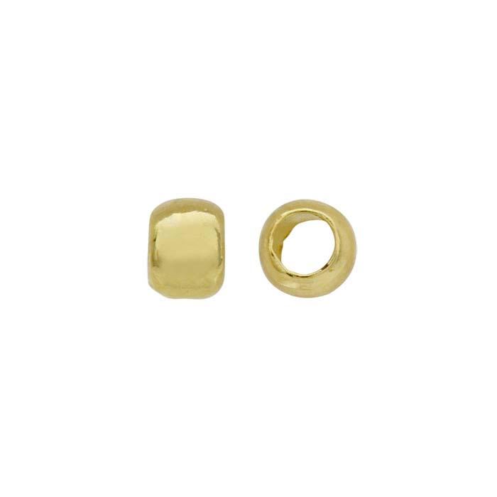 Beadalon® Brass Yellow-Finish 2mm Round Crimp Bead, 1-oz.