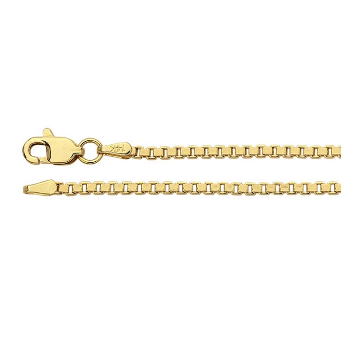 14K Yellow Gold Hollow Box Chains