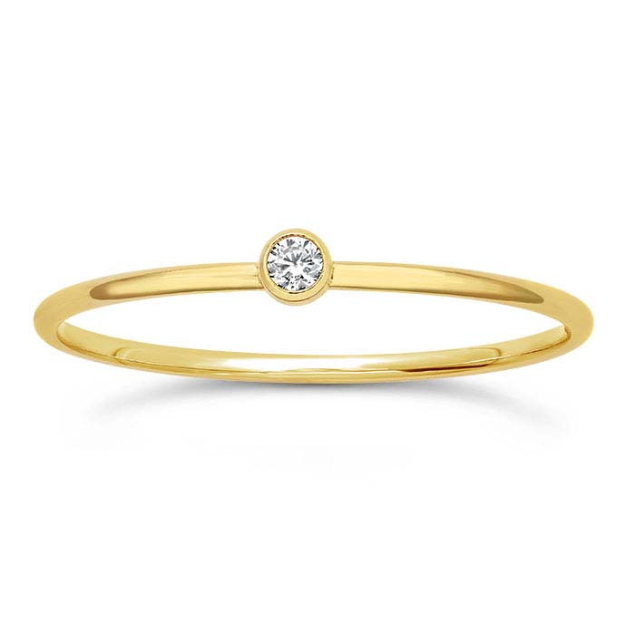 14/20 Yellow Gold-Filled CZ-Set Rings