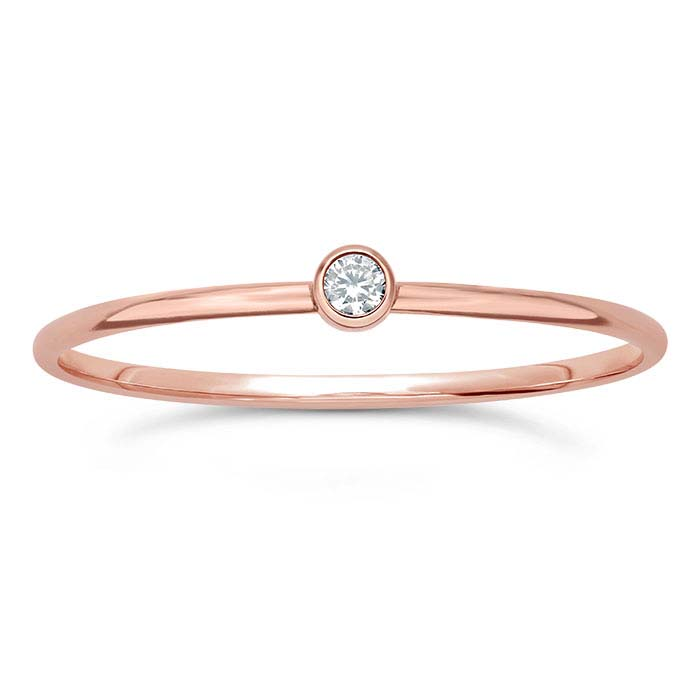 14/20 Rose Gold-Filled CZ-Set Rings