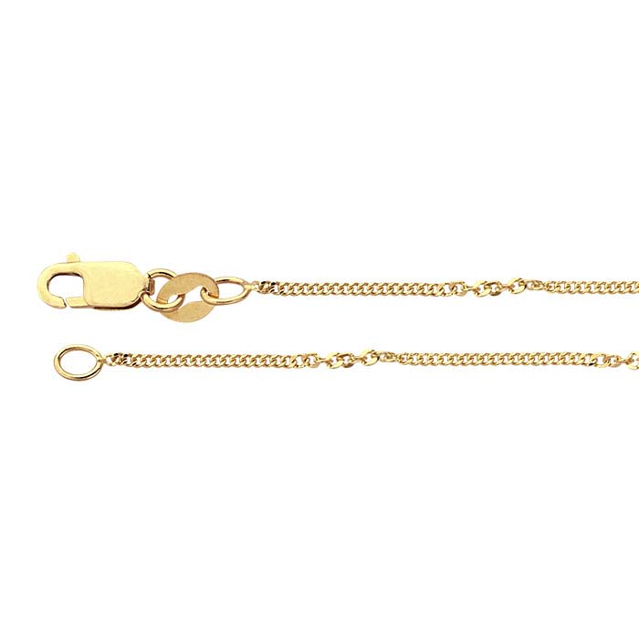 14K Yellow Gold Diamond-Cut Twist Curb Chains