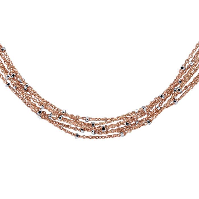 14/20 Rose Gold-Filled 7-Strand Tin-Cup Cable Chain Necklace