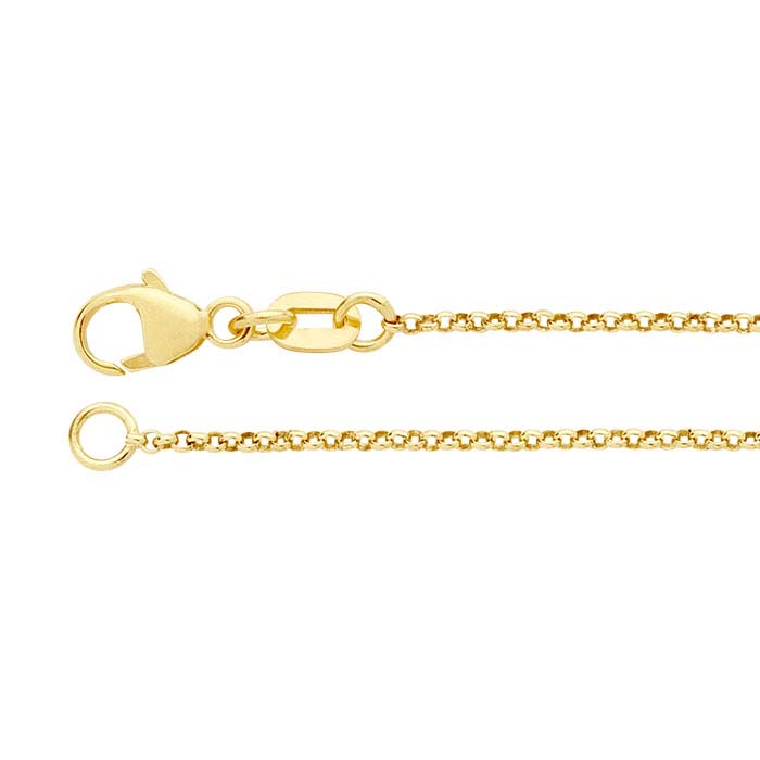 14K Yellow Gold Round Rolo Chains
