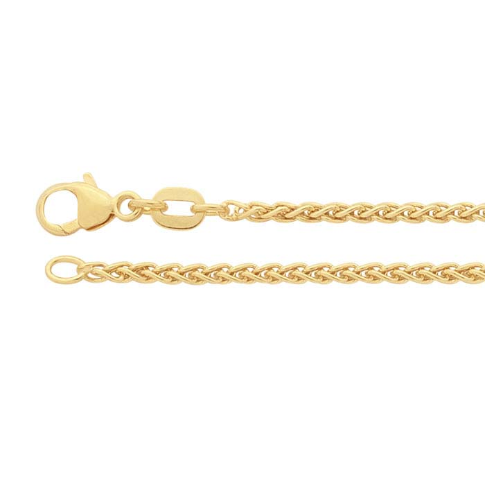 14K Yellow Gold 1.8mm Wheat Chains