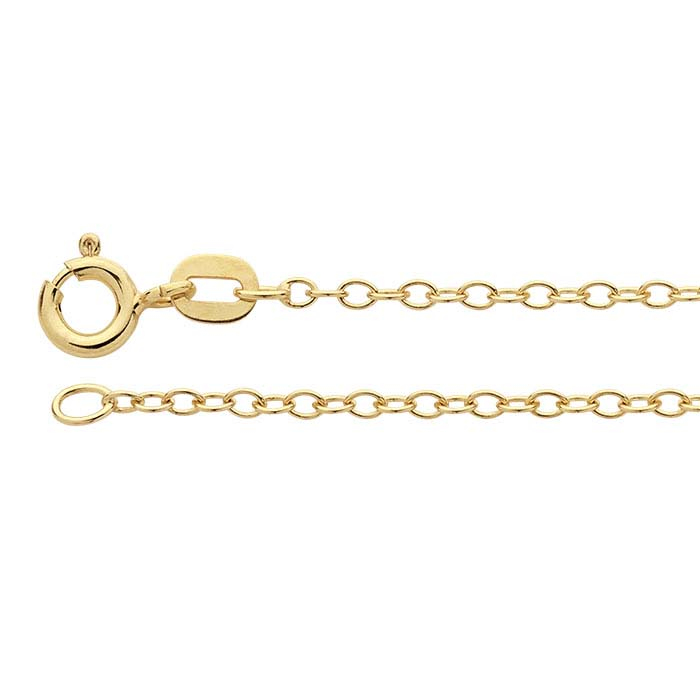 14K Yellow Gold Oval Cable Chains