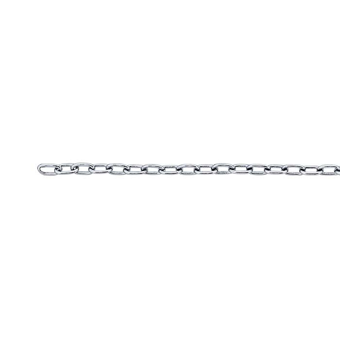 Brass Nickel-Plated 1.7mm Drawn Cable Chain, 100-ft. Spool