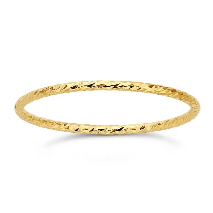 14/20 Yellow Gold-Filled Sparkle Wire Stackable Rings