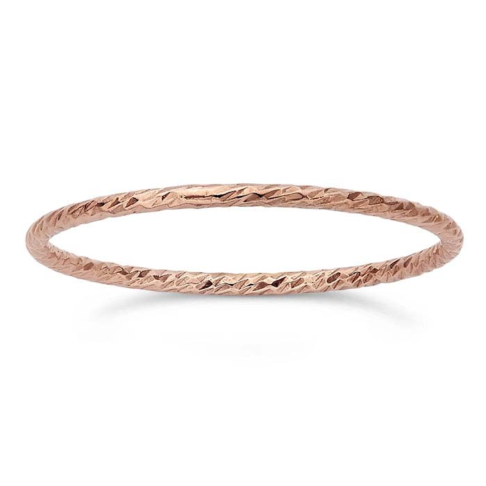 14/20 Rose Gold-Filled Sparkle Wire Stackable Rings