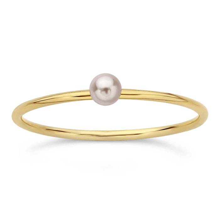 14/20 Yellow Gold-Filled Swarovski® Rosaline Pearl-Set Rings