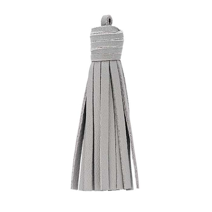 Gray Nappa Italian Leather Tassel Components