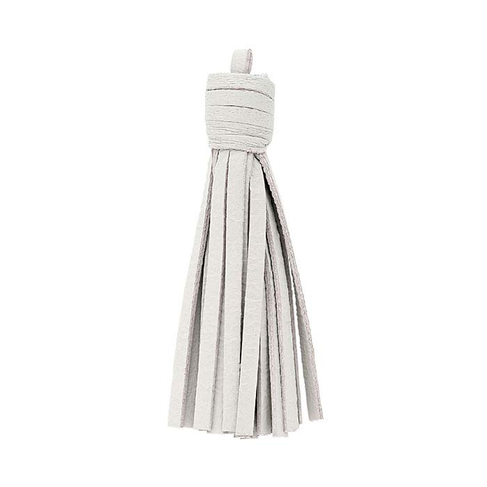 Light-Gray Nappa Italian Leather Tassel Components