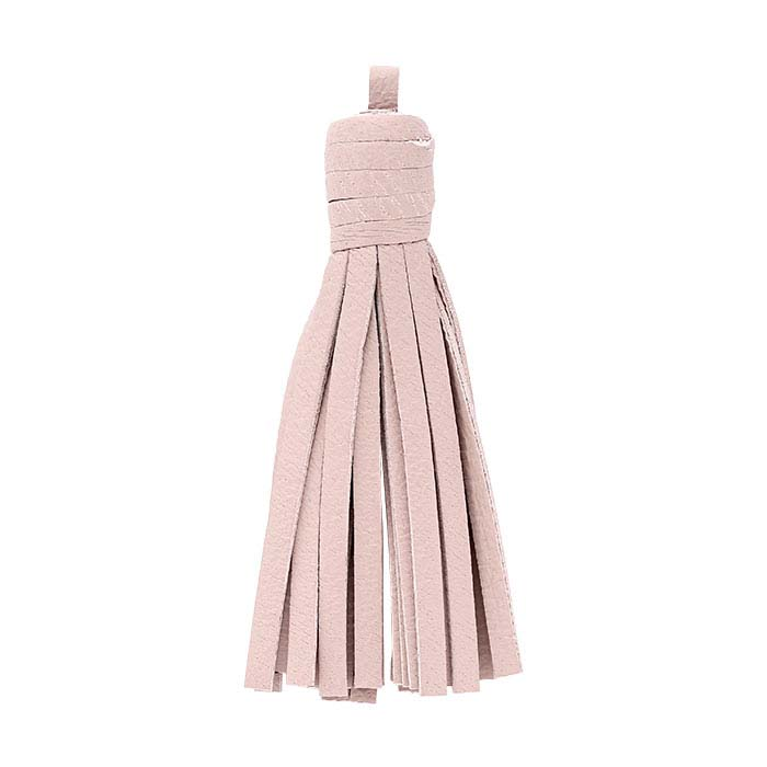 Pink Nappa Italian Leather Tassel Components