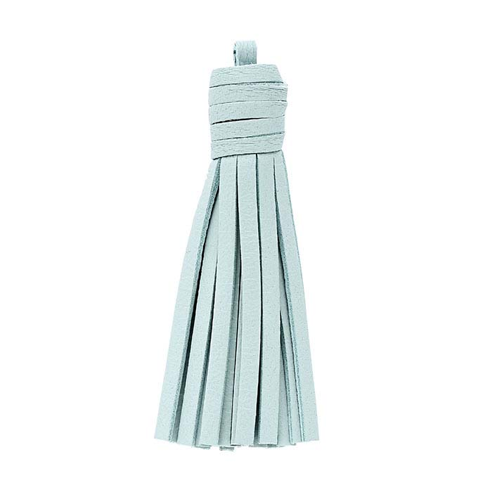 Mint-Green Nappa Italian Leather Tassel Components