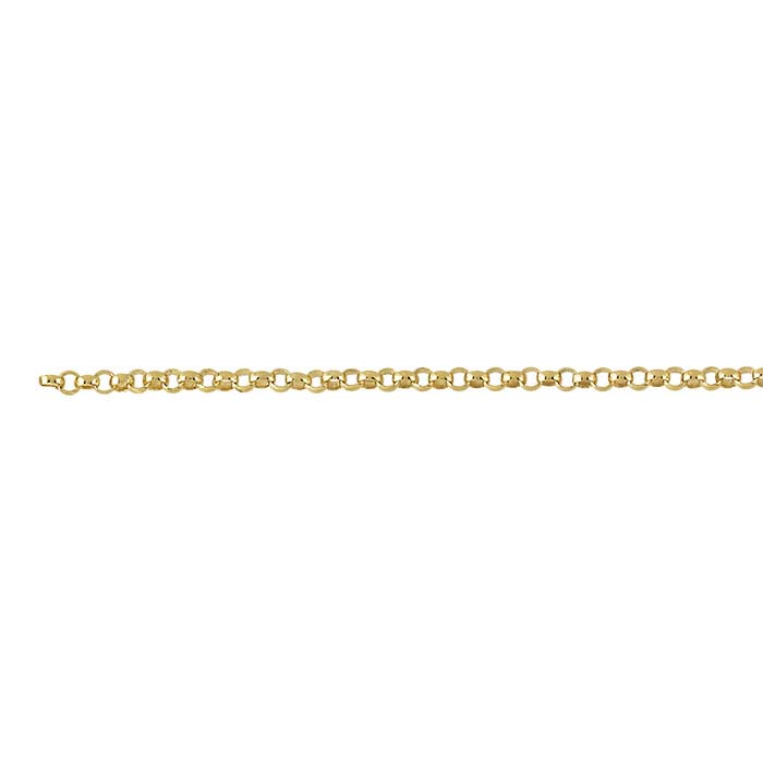 18K Yellow Gold 1.5mm Rolo Chain, By the Inch