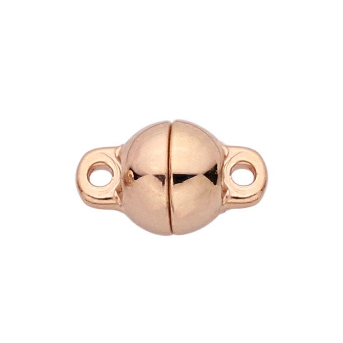 Langer® 14K Rose Gold Round Ball Magnetic Clasps