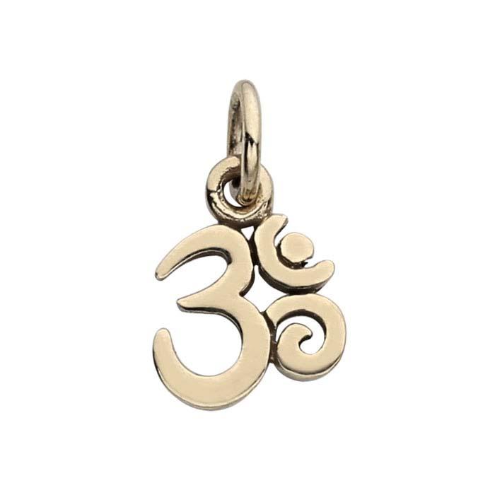 "Bronze ""Om"" Symbol Charm"