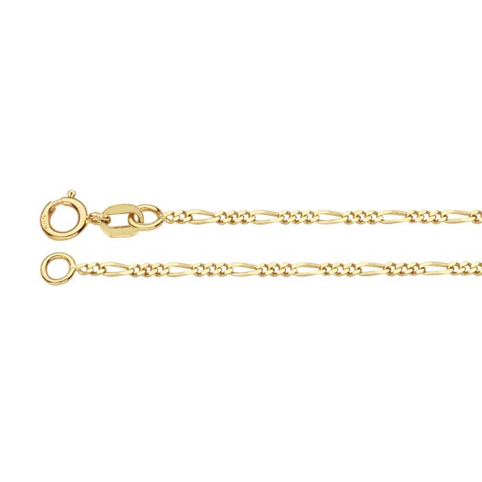 14K Yellow Gold Figaro Chains