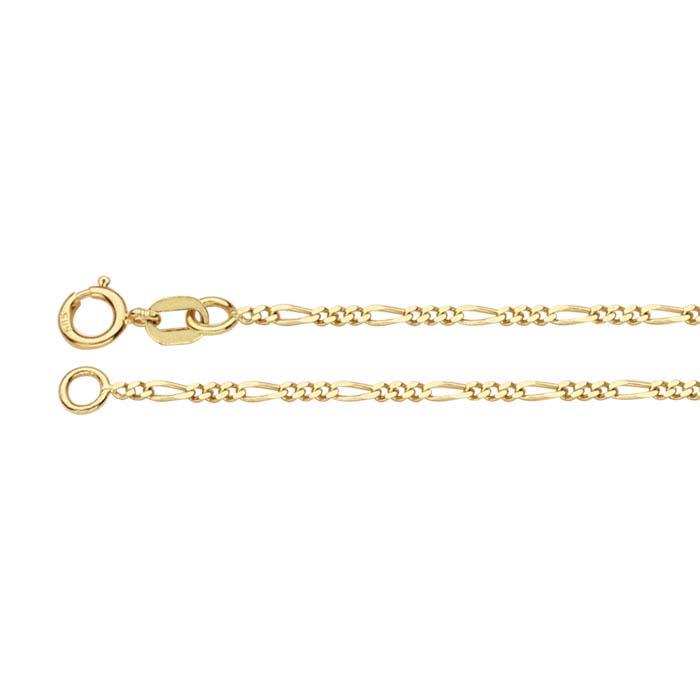 14K Yellow Gold Figaro Chains
