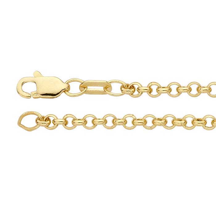 14K Yellow Gold Hollow Round Rolo Chains