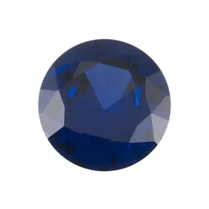Lab-Created Sapphire Round Faceted Stones