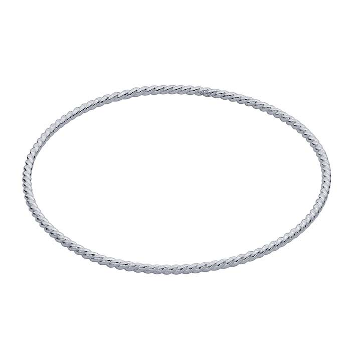 Sterling Silver Twist-Wire Bangle Bracelet