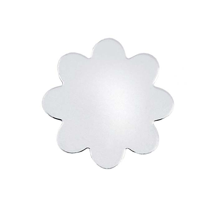 Sterling Silver Round Scalloped Stampings, Soft