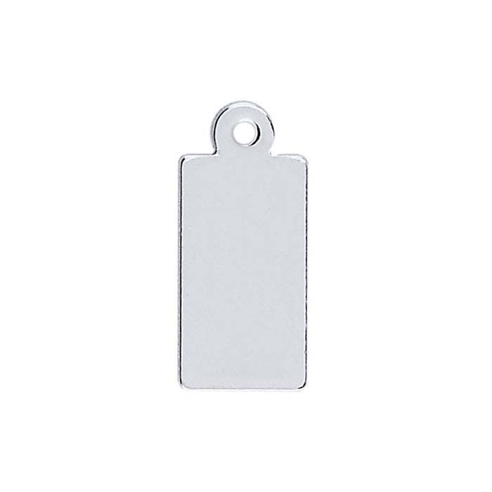 Sterling Silver Rectangle Tags, Soft